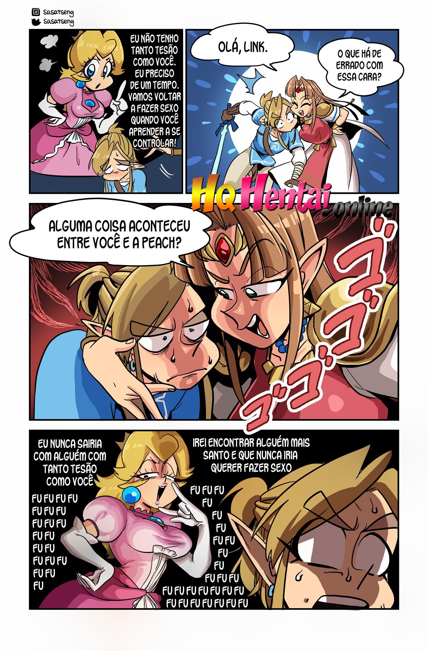 Link fodendo Peach