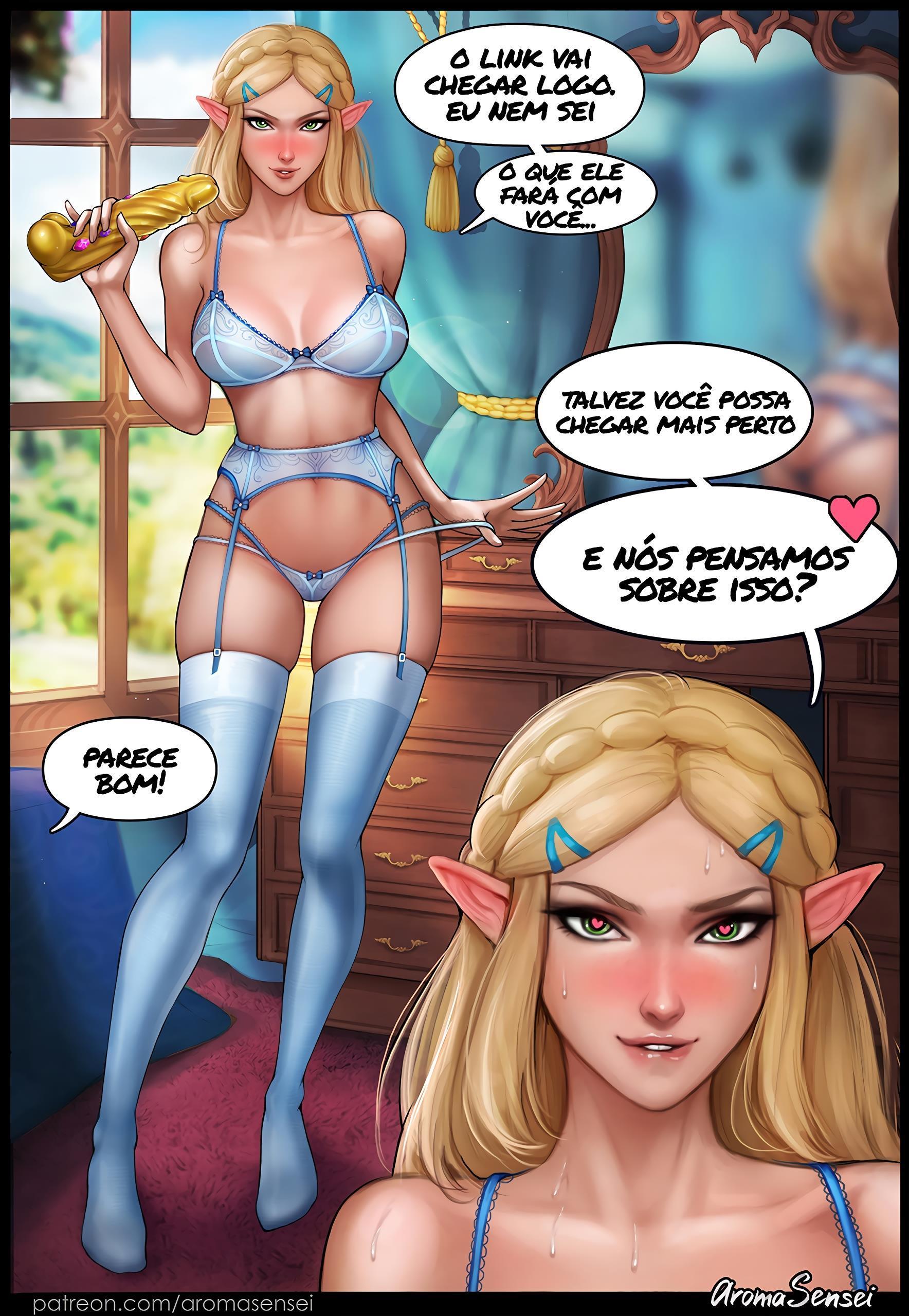 Princesa Zelda Traindo Link