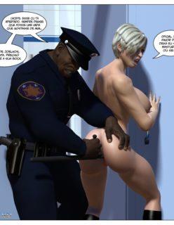 Policial Negão Comendo a Loira