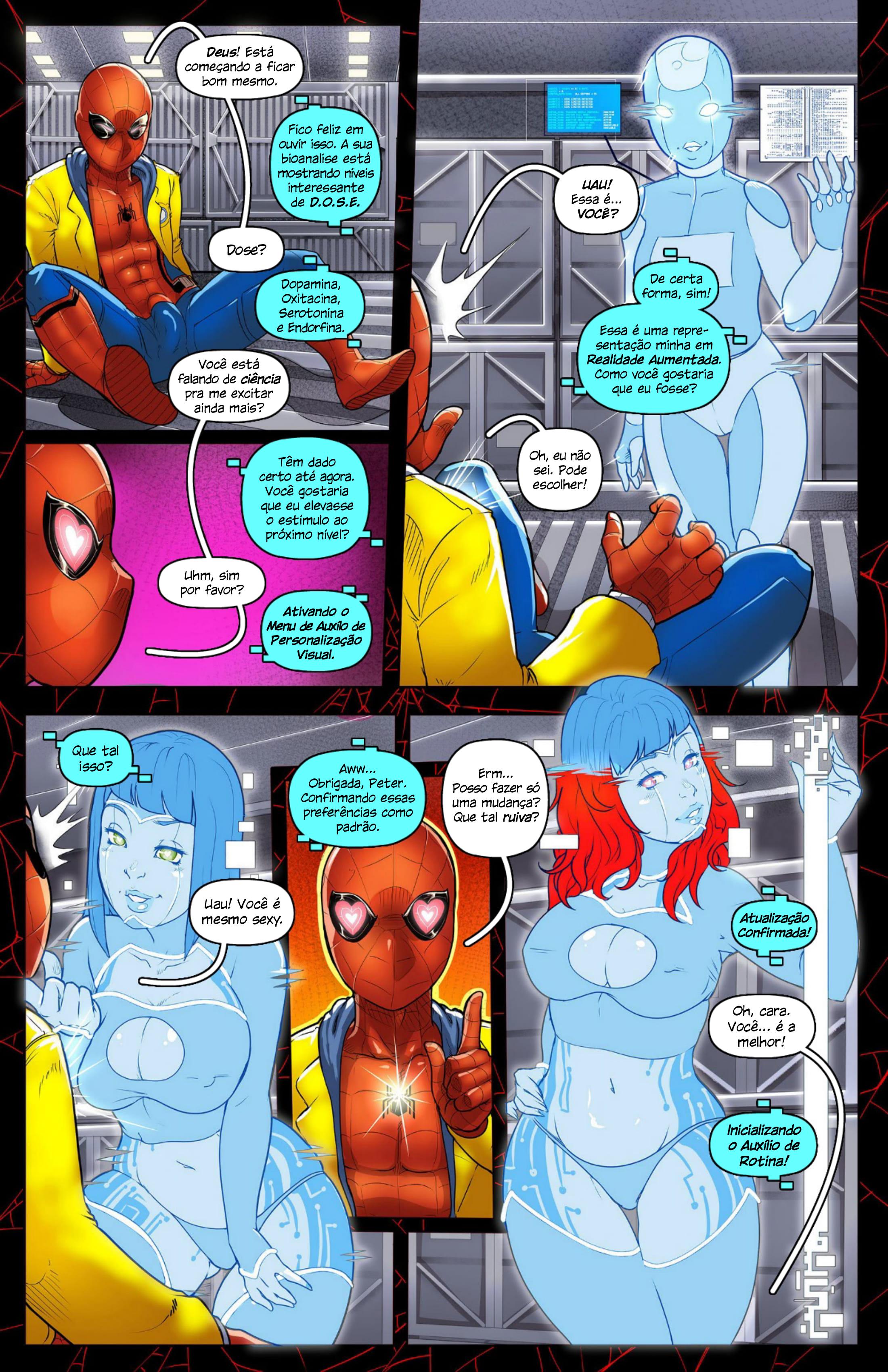 Homem-Aranha fodendo a Karen