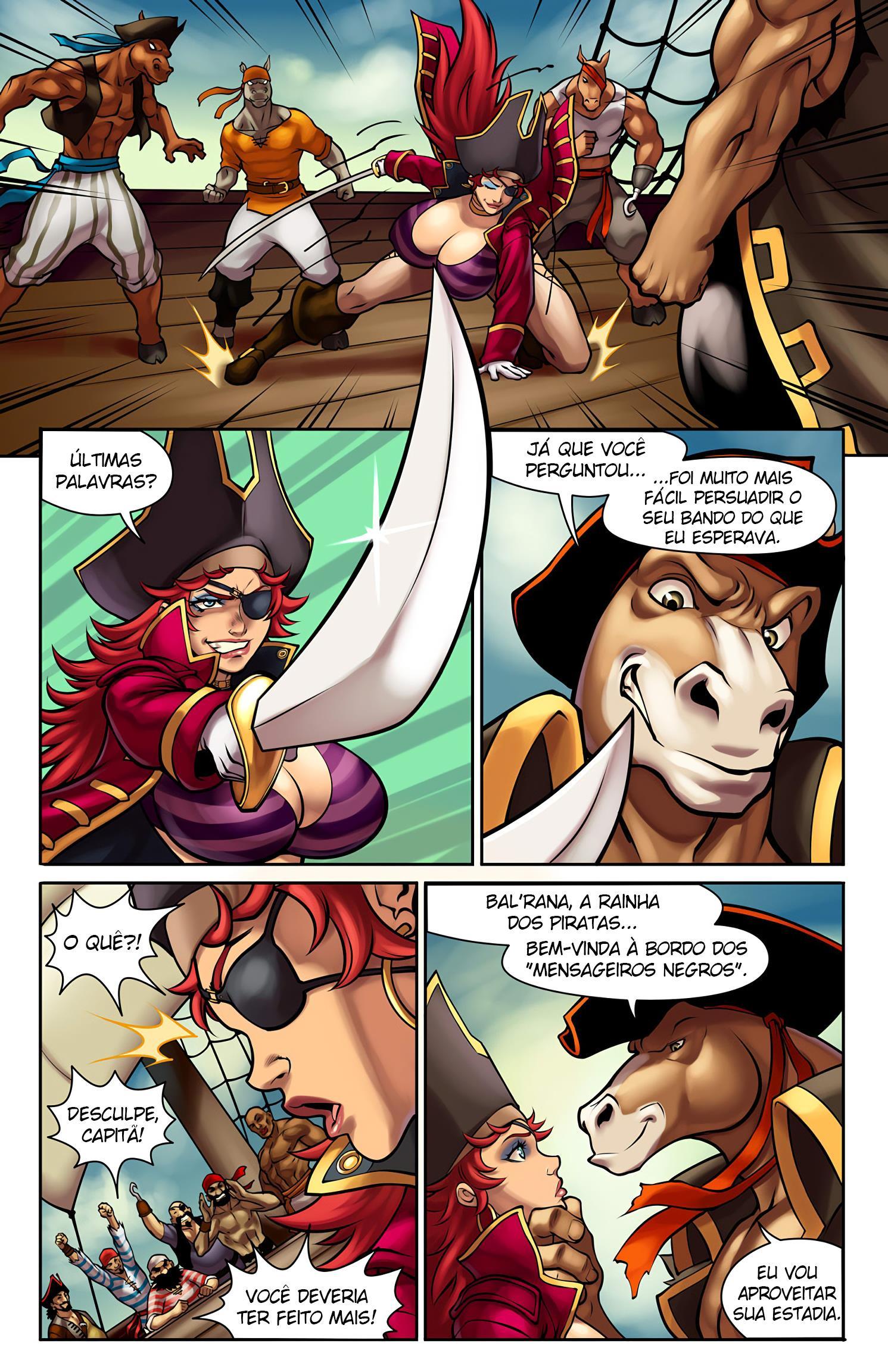 A Rainha dos Piratas contra os Garanhões do Mar