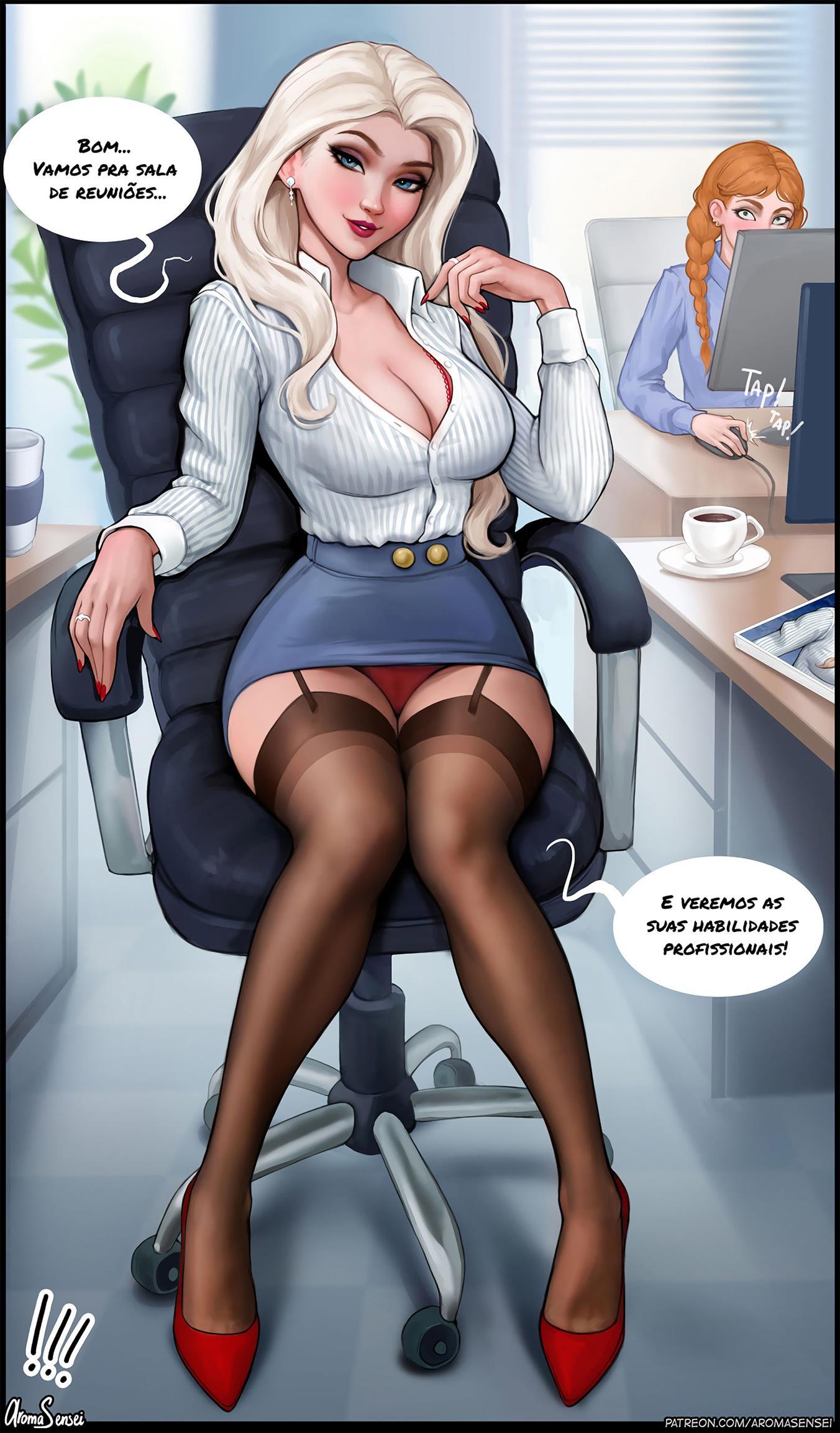 Entrevista de emprego com Elsa